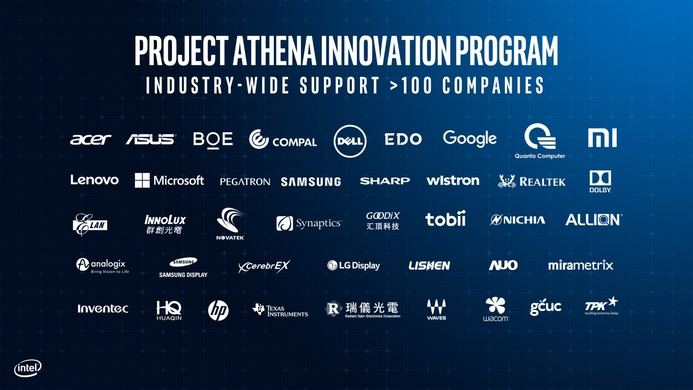 Intel's 2019 laptop showcase the next evolution, Project Athena