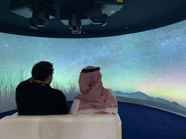 Shared VR experience at Epson GITEX stand attracts visitors