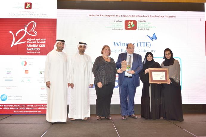 du awarded corporate social responsibility award at Arabia CSR Awards 2019