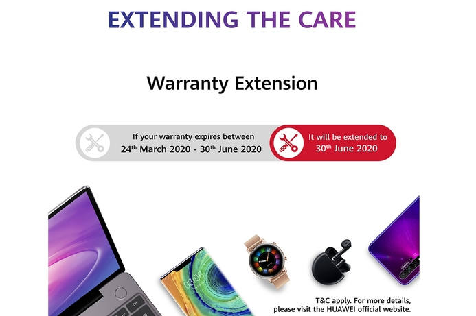 Huawei offers extended warranty to ensure customer health and convenience