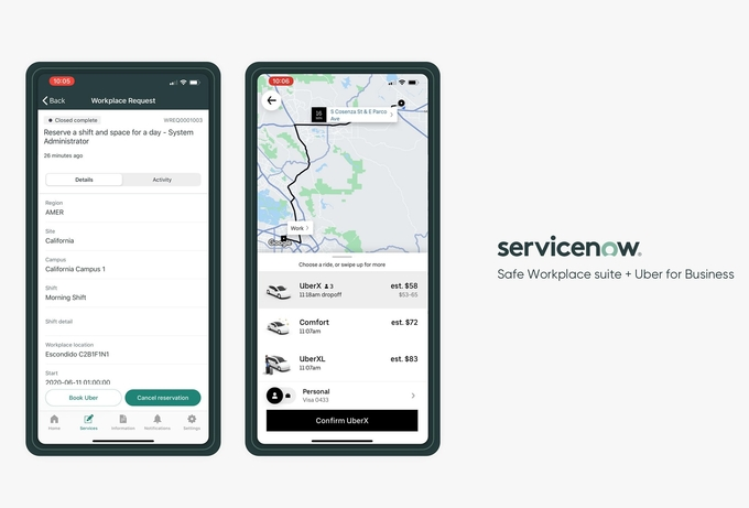 ServiceNow partners with Uber For Business to enable a safer commute to work