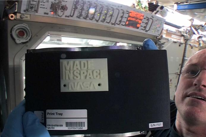 ISS astronauts test 3D printer
