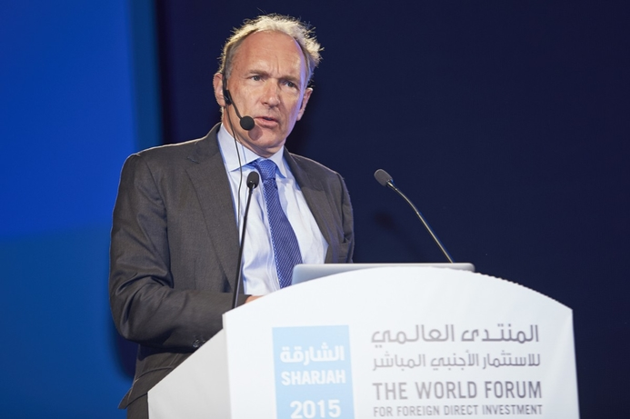 Sir Tim Berners-Lee calls for net-neutrality at FDI forum in Sharjah