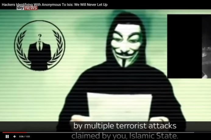 In wake of Paris attacks, Anonymous declares 'war' on IS