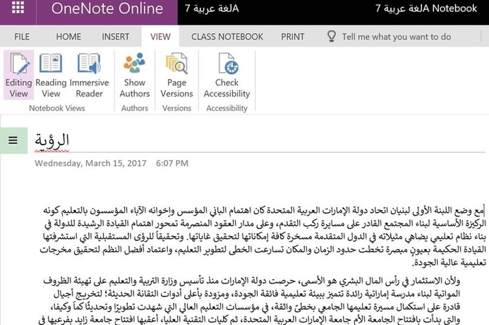 Microsoft launches learning tools in Arabic