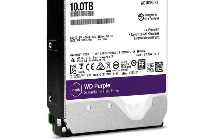 WD increases capacity of surveillance hard drives
