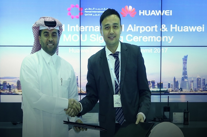 Huawei, Qatar's Hamad International Airport strike strategic partnership