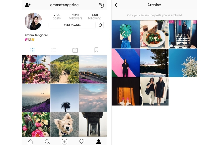Instagram now lets you hide posts with Archive
