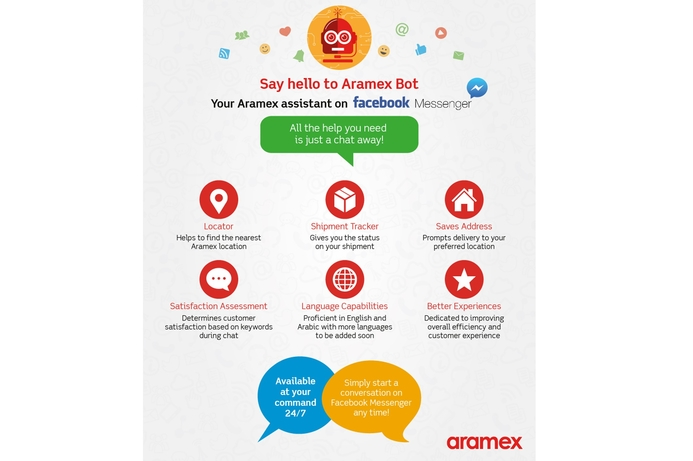 Aramex AI-enabled Chatbot enhances customer journey