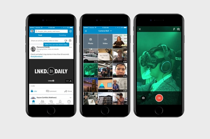LinkedIn adds video feature to its mobile app