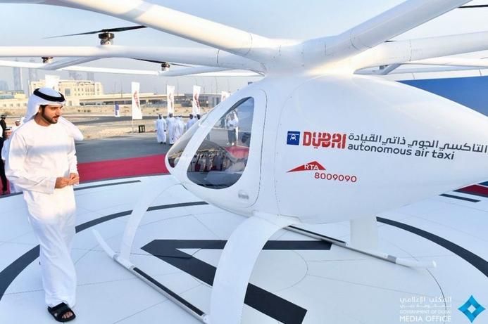Sheikh Hamdan hails Dubai's flying taxi after test flight