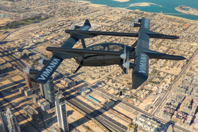 New four-seat flying taxi proposed for Dubai