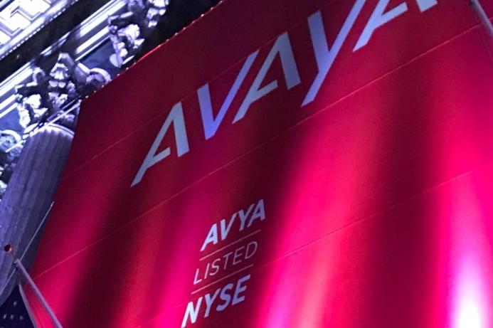 Avaya lists on New York Stock Exchange