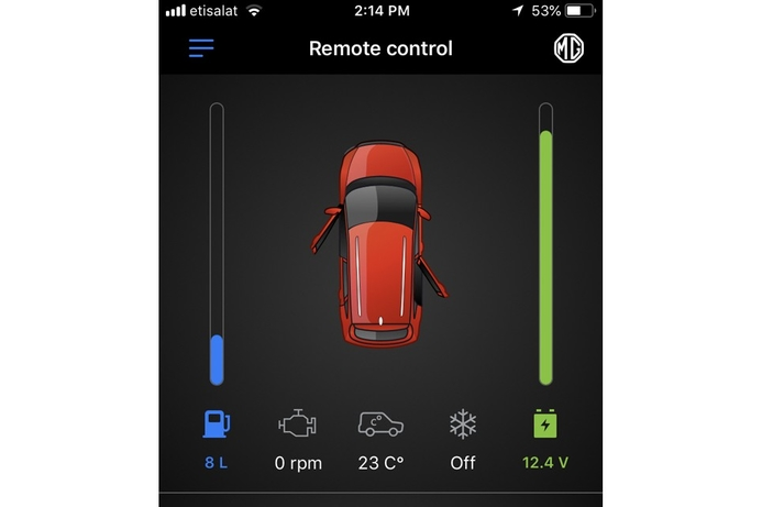 MG Motor brings iLink app to the Middle East