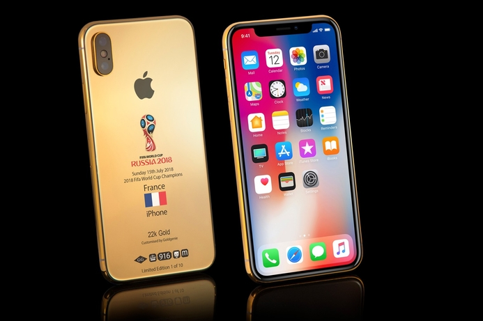 Gold iPhone to celebrate France World Cup win