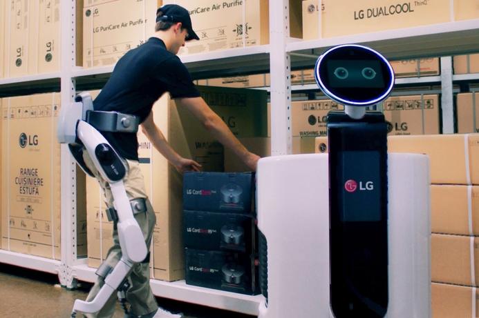 LG develops wearable robot exoskeleton