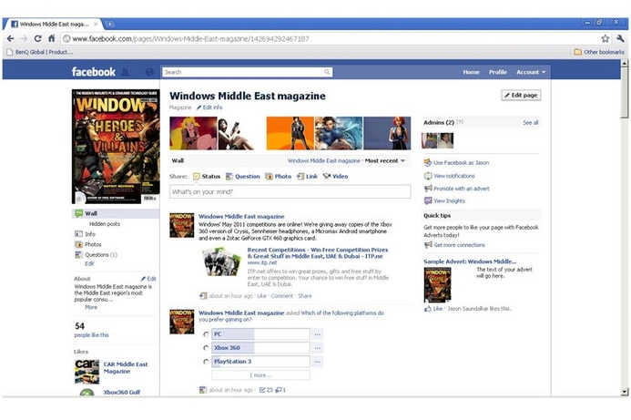 Windows magazine launches Facebook page