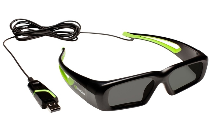 Nvidia introduces wired 3D glasses