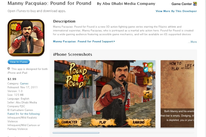 Pound-for-Pound launched on iOS