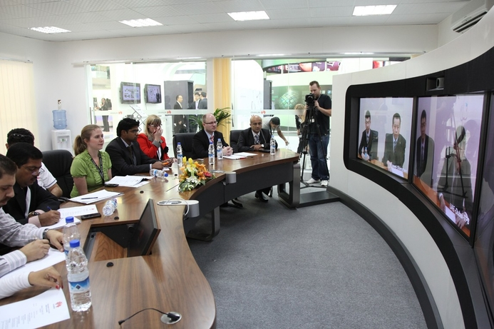 Huawei's latest Telepresence 2.0 teleconferencing solution enables users to interact in high definition - even with low bandwidth connections