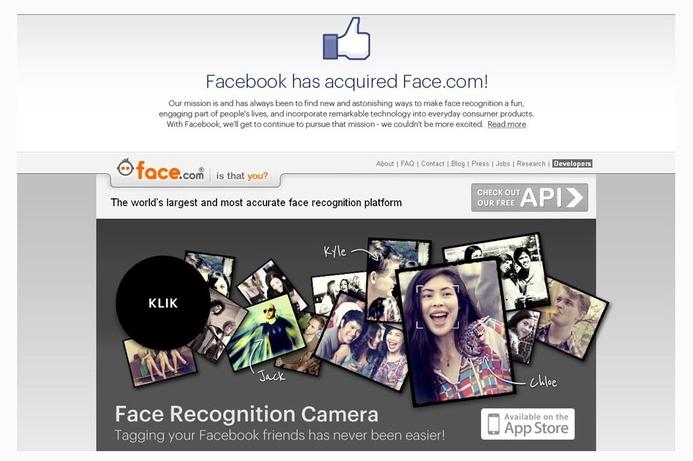 Facebook nabs facial recognition website
