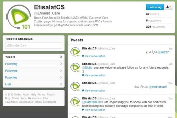 Etisalat unveils customer care portal on Twitter