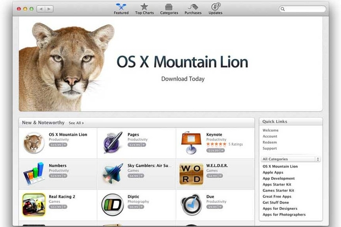 Mountain Lion hits 3 million downloads
