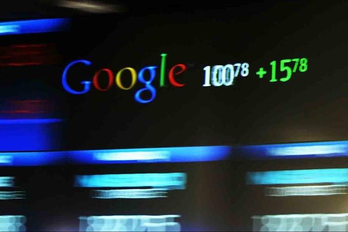 Google stock hits record high
