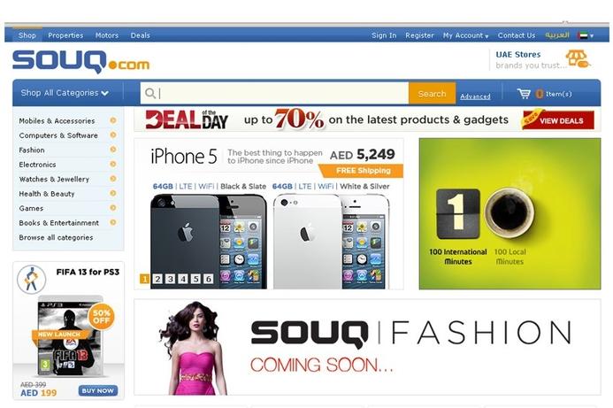 UAE's Souq.com confirms Naspers investment