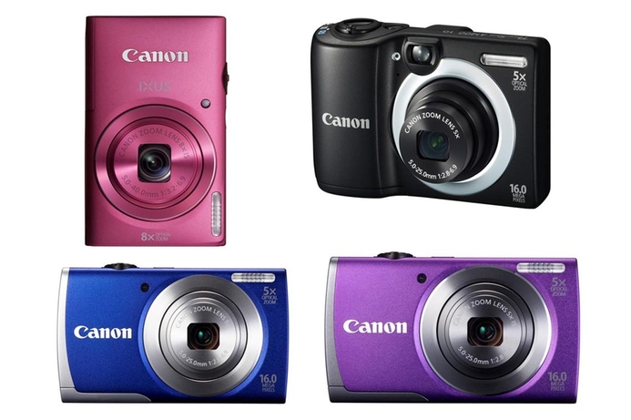 Canon unveils new IXUS and PowerShot A-series