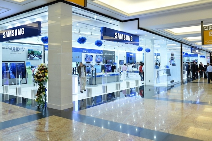 Samsung opens new brand shop at MoE