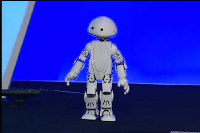 Intel introduces walking, talking, tweeting robot
