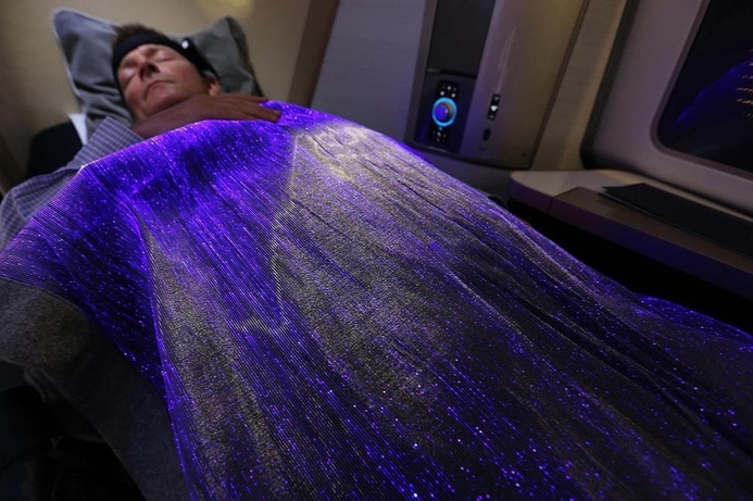 Airline introduces hi-tech 'happiness blanket'