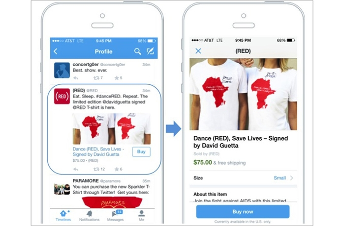 Twitter tests new 'Buy' button