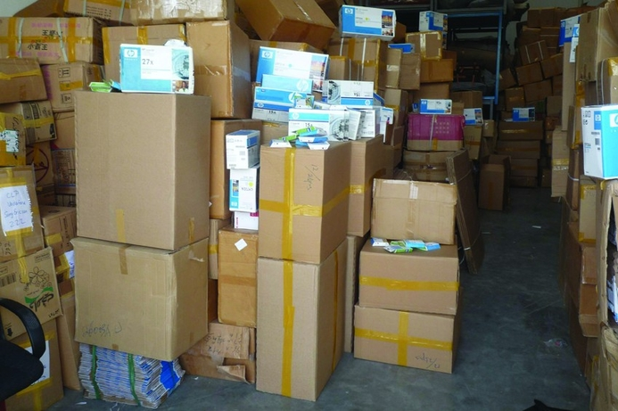 Record seizure of fake HP printer products in UAE