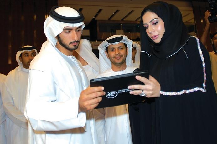 HH Sheikh Majid visits GITEX exhibition stands