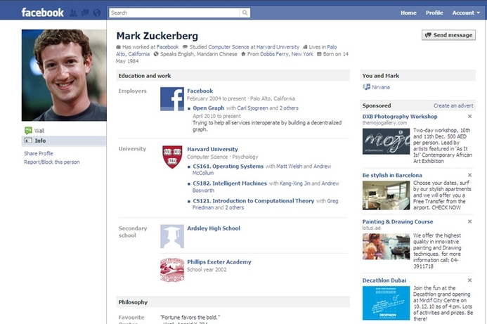 Zuckerberg's private photos leaked by Facebook bug