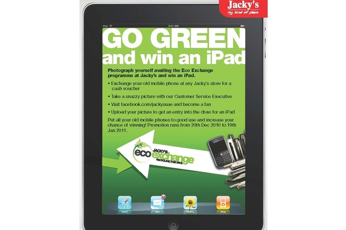 Jacky's to give away iPad in recycling competition
