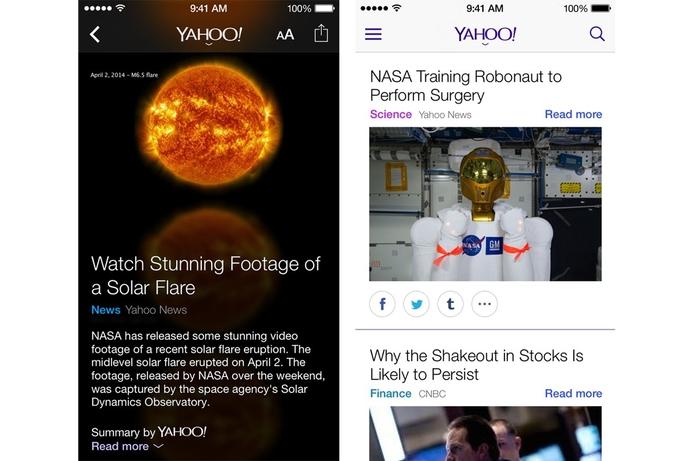 Yahoo announces launch of new app