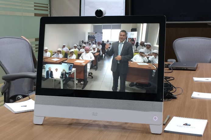 Abu Dhabi Polytechnic delivers lessons via video