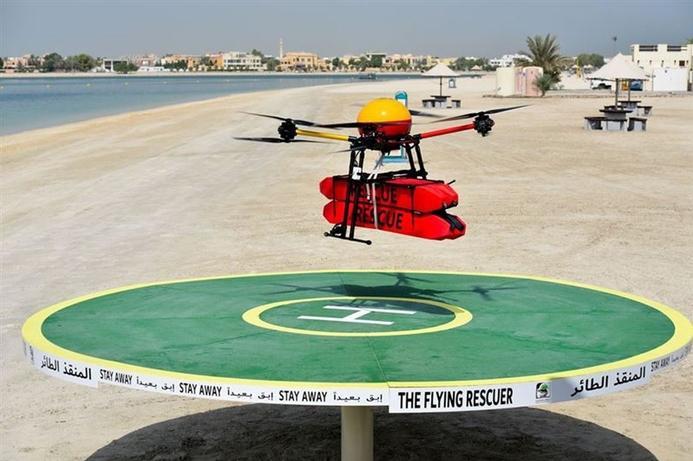 Dubai Municipality launches drone to protect beach goers