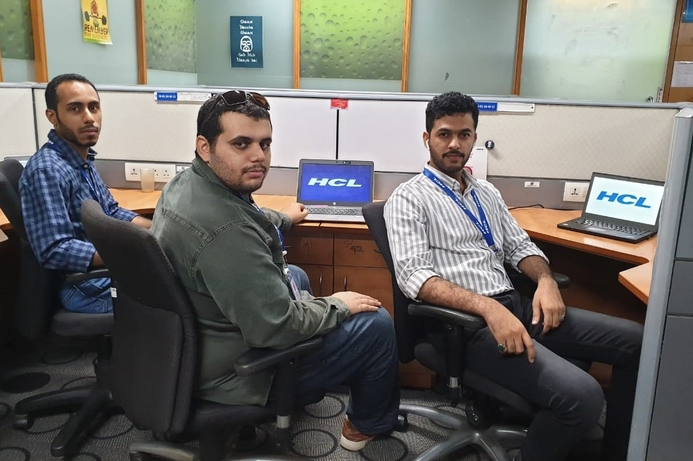 Omani students undergoing training with HCL Technologies