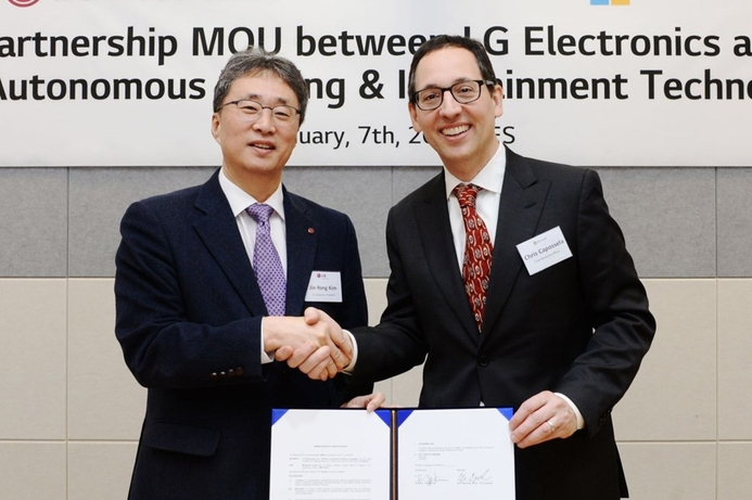 LG and Microsoft partner for autonomous vehicle systems