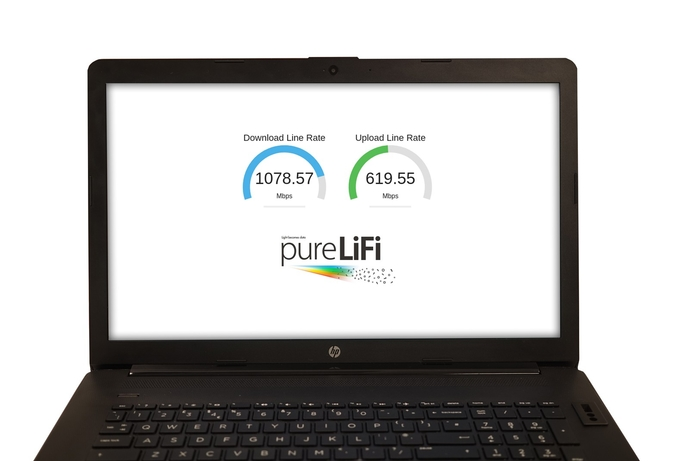 pureLiFi demonstrates laptop Gigabit LiFi at MWC