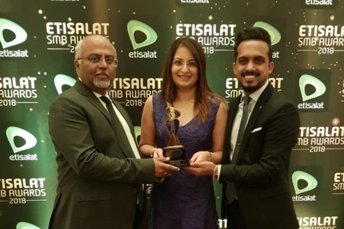 IRIS wins Innovation of the Year at Etisalat SMB awards