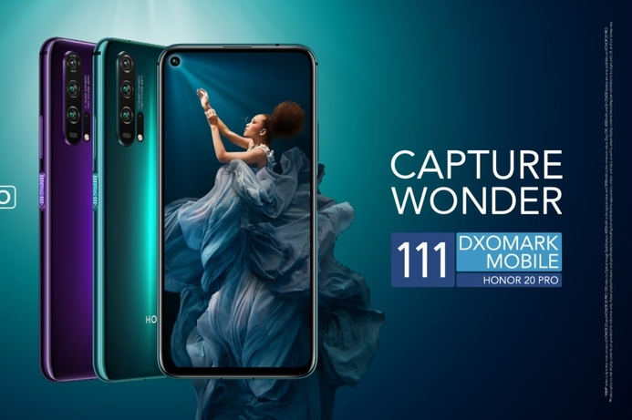 Honor 20 PRO achieves DxOMark score of 111