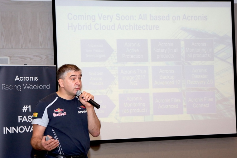 Acronis helps F1 team store, protect and sync and share data