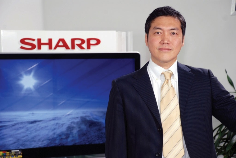 Sharp demonstrates display solutions
