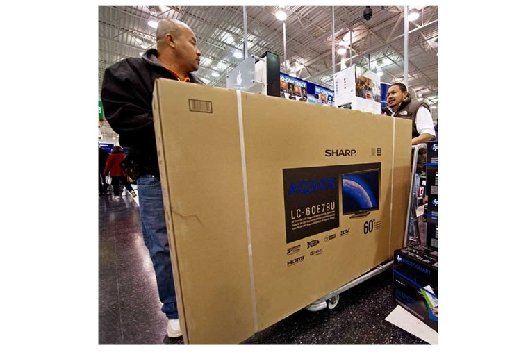 Large sized LCD panel shipments rise in H1 2012