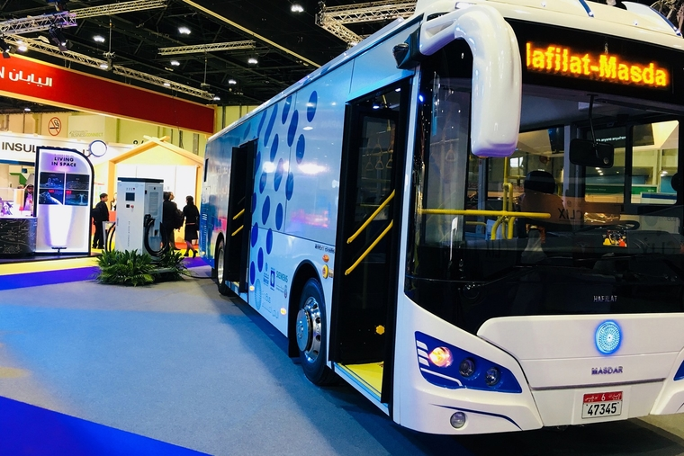 Masdar launches region's first fully electric bus